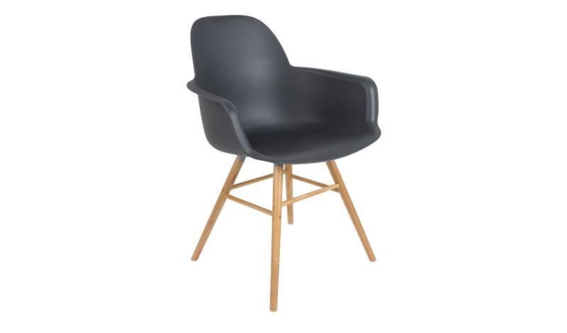 Zuiver albert kuip stoel met armleuning pure wood design