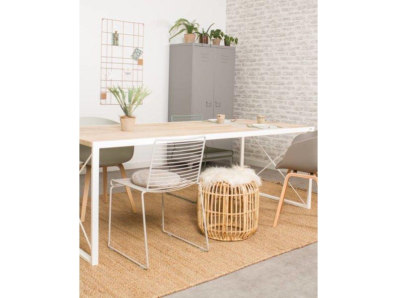 PURE wood design 'Flackberg' table en chêne avec structure en acier - Copy
