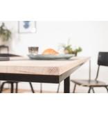 PURE wood design 'Holmegaard' eikenhout/stalen frame V-profiel