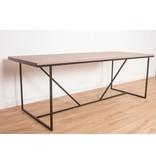 PURE wood design 'Holmegaard' notenhout/stalen frame V-profiel