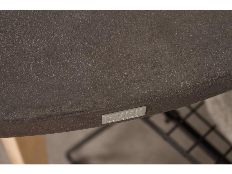 PURE wood design PURE CONCRU tafel round