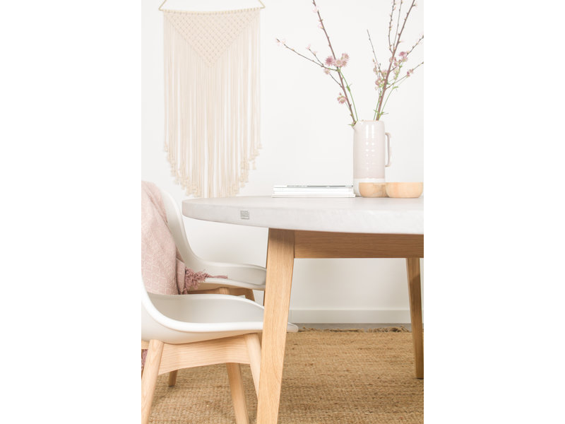 PURE wood design PURE CONCRU tafel ellipse