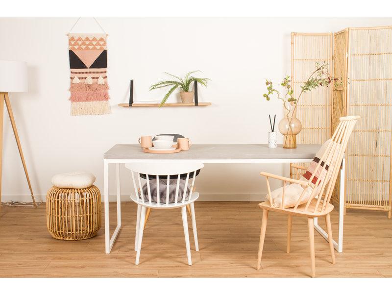PURE wood design PURE CONCRU tafel stalen frame
