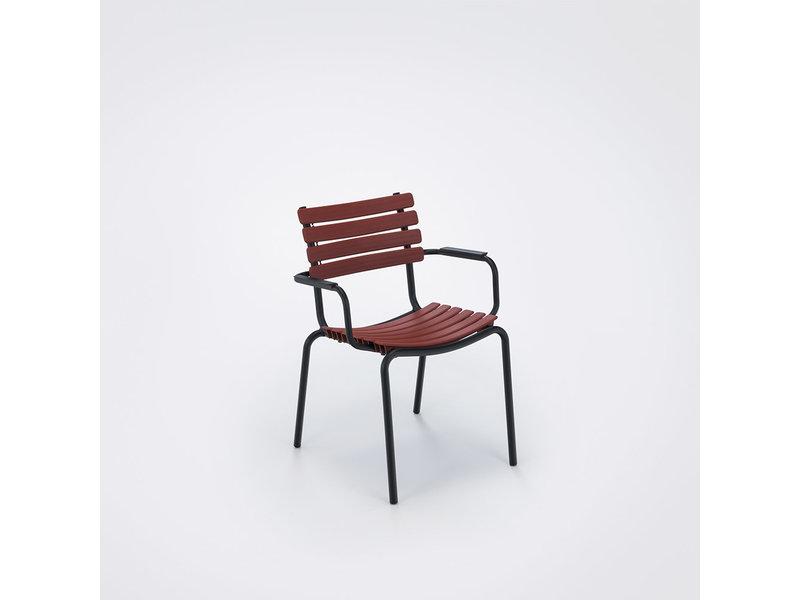 HOUE Clips dining chair met alu armsteun