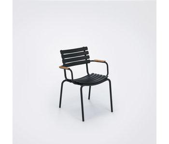 HOUE Clips dining chair met bamboo armsteun