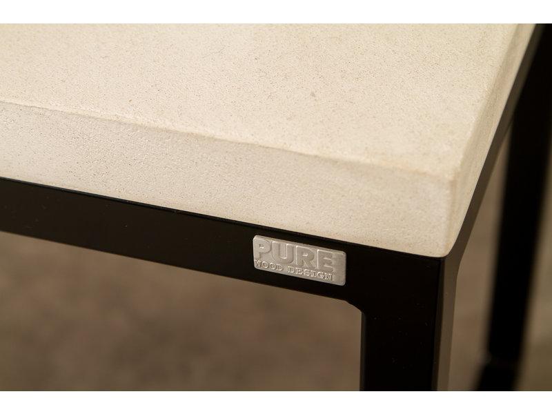PURE wood design PURE CONCRU bank stalen frame