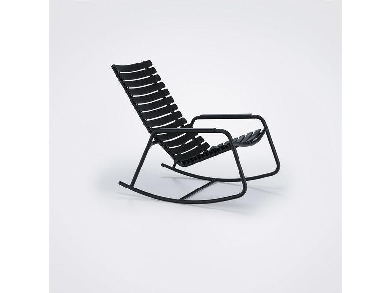Woood Eetkamerbank Tijmen.Zwart Frame Clips Chair Rocking Met Dieh2w9
