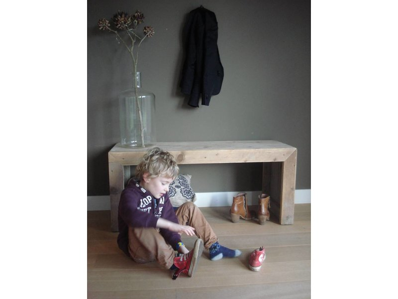 PURE wood design 'Hofland' bank van steigerhout