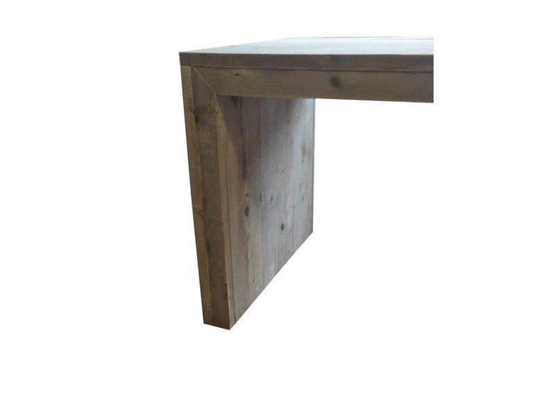 PURE wood design 'Lund' steigerhouten tafel dichte zijkanten