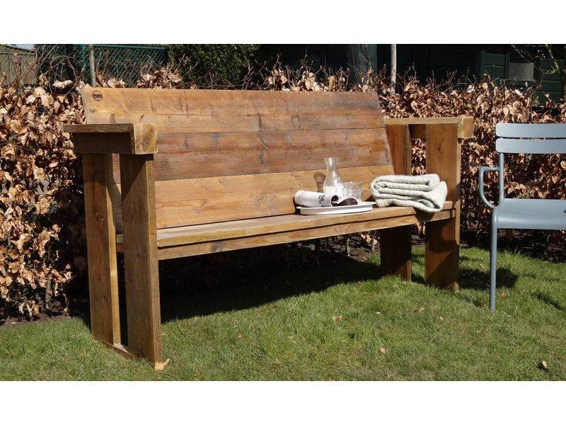 PURE wood design Banc de jardin du bois d'échafaudage