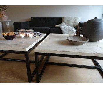 "PURE wood design ""Varberg"" Table basse au style industriel"