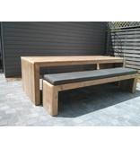 PURE wood design 'Lund outdoor' tuintafel steigerhout dichte zijkanten