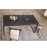 PURE wood design 'Nordland' tafel met chipwood en recht stalen frame