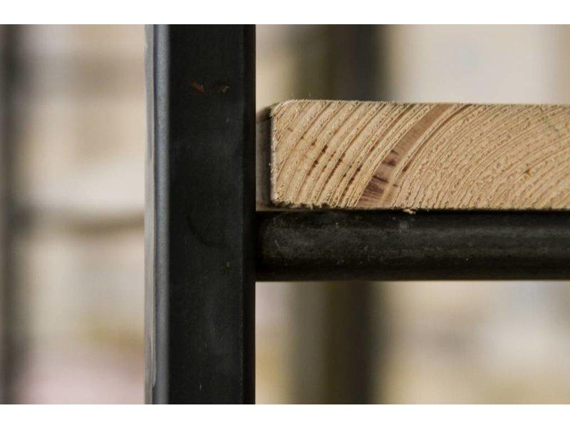 PURE wood design 'Molde' Industriele kast ruw staal en steigerhout