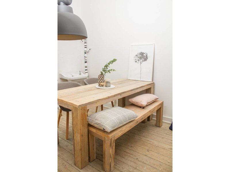 "PURE wood design ""Hamar"" Table massive en pin recyclé"