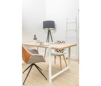 "PURE wood design ""Nordby"" Table en pin recyclé au style industriel"