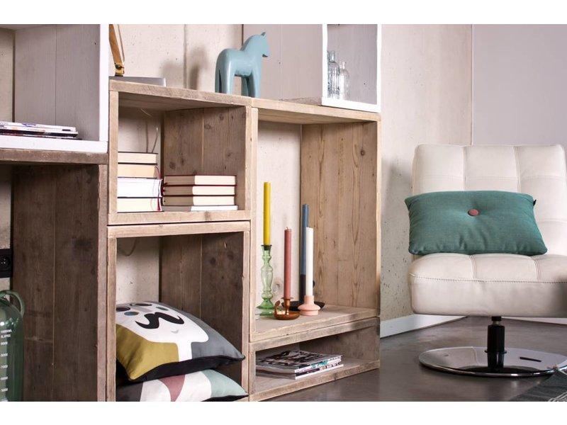 PURE wood design Cube modulekast 8 vlakken - 280 cm breed