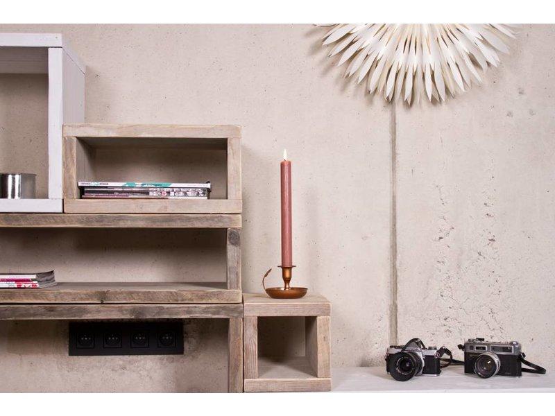 PURE wood design Cube modulekast 8 vlakken - 220 cm breed
