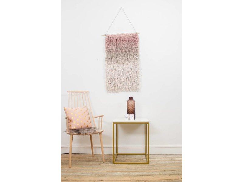 """PURE wood design """"Goldmark"""" Table basse en marbre et métal doré"""