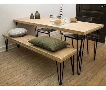 "PURE wood design ""Har"" Table au style industriel"