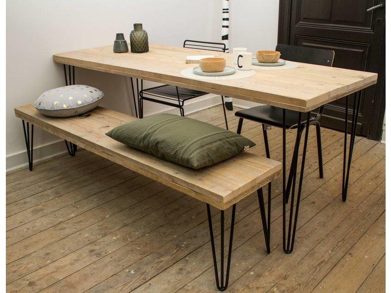 Kolompoot tafel steigerhout voor buiten buitentafel middenpoot