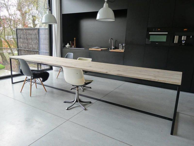 PURE wood design 'Brandal' industriele tafel steigerhout stalen frame