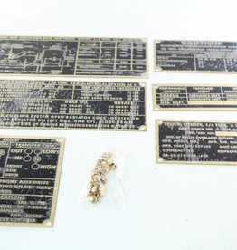 Stencils & Stickers M38A1 G758 Data plate set