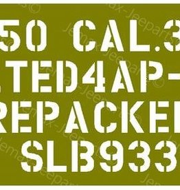 Stencils & Stickers Stencil nr. 19