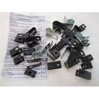 Willys MB MB Wiring clip identification set