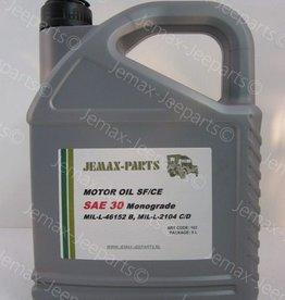 Olie en Vetten Motorolie monograde SAE 30