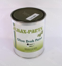 Verf Mat 1 liter Olive Drab
