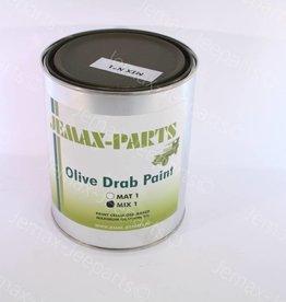 Verf Mix 1 liter blik groen