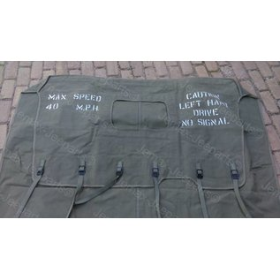Willys MB MB/GPW summer top 1941-42 (6 tie-down straps, without jerrycan)
