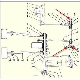 Willys MB Clutch Control Shaft Kit