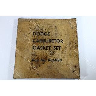 Dodge WC Dodge WC Gasket Set carburator Carter BB