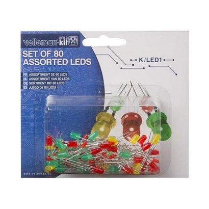 Assortiment van 80 LEDs