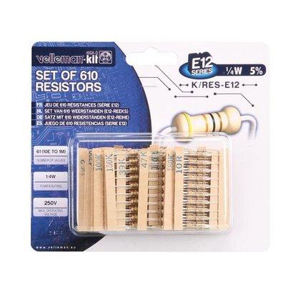 Velleman Set of 610 resistors (E12 series)