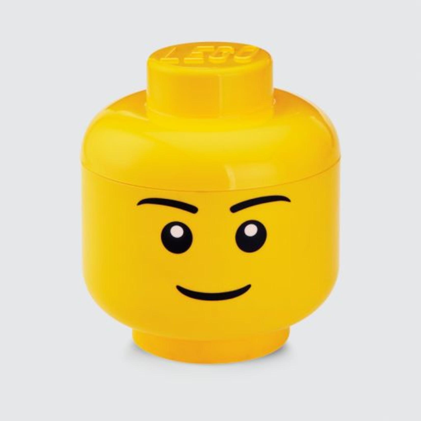 LEGO® Boîte de rangement LEGO head boy - 24x27cm