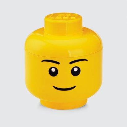 Boîte de rangement LEGO head boy - 24x27cm