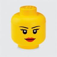 Opbergbox LEGO hoofd meisje - 24x27cm
