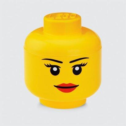 Boîte de rangement tête LEGO fille - 24x27cm