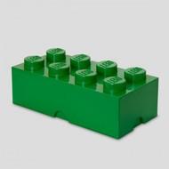 Boîte de rangement brique LEGO 2x4 verte