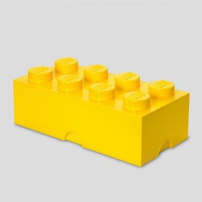 Boîte de rangement brique LEGO 2x4 jaune