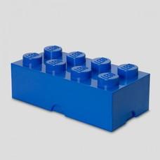 Boîte de rangement brique LEGO 2x4 bleu