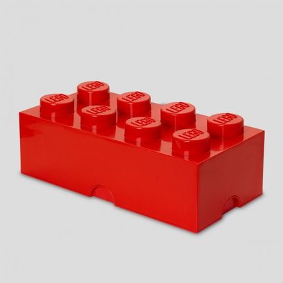 Storage box LEGO brick 2x4 red