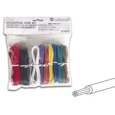 Velleman Jeu de câbles de montage - 10 couleurs - 60m - multiconducteurs