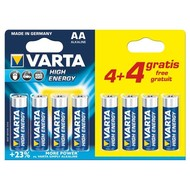 Varta Alkaline LR6 / AA, pack promotionnel 1,5 V 4 + 4 pcs