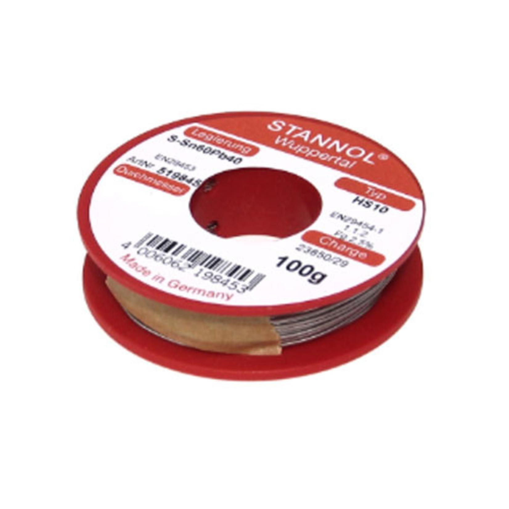 Stannol Soldeerdraad HS10 60/40 0.6mm 100gr