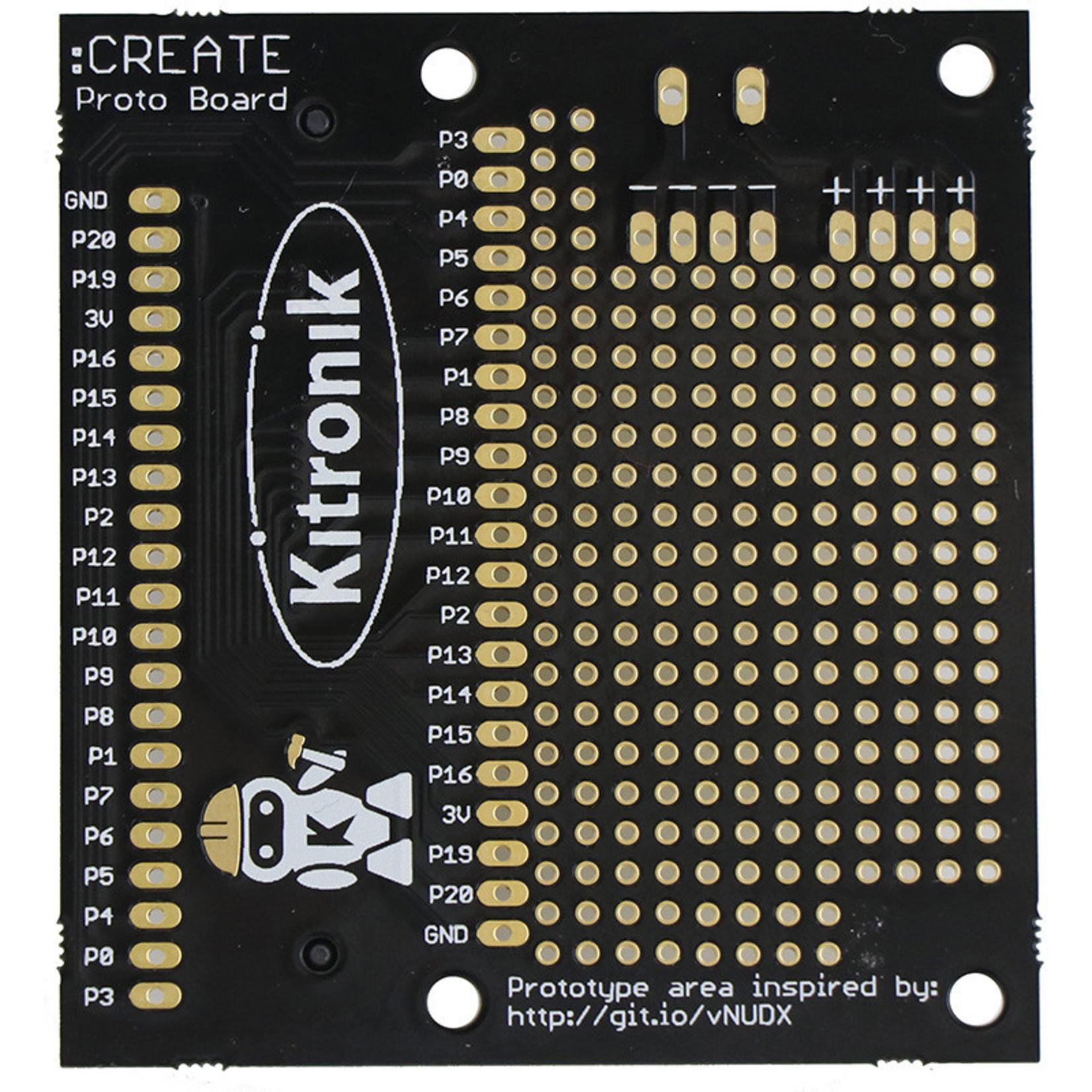 Kitronik :CREATE Proto Board For BBC micro:bit