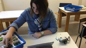 Naomi Blauwers, institutrice sur LEGO Education  et  WeDo2.0